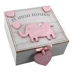 Petit Cheri Baby Girls Wooden Memory Keepsake Box