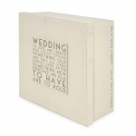 East of India Handcrafted Wedding Memories Keepsake Box