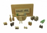 East of India Miniature Wooden Noahs Ark Keepsake Set