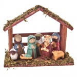 Gisela Graham Ceramic Traditional Christmas Nativity Set
