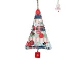 Gisela Graham Fabric Christmas Tree Embroidered Decoration