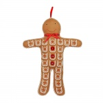Gisela Graham Christmas Gingerbread Man Advent Calendar