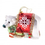 Gisela Graham Glass Polar Bear Collectable Decoration