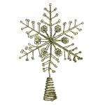Gisela Graham Gold Christmas Star Tree Topper Feature