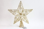 Gisela Graham Glittered Gold Christmas Star Tree Topper