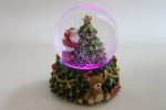 Gisela Graham Led Colour Changing Santa Christmas Snowglobe