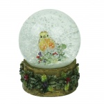 Gisela Graham Christmas Robin Snowglobe Decoration