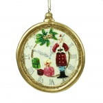Gisela Graham Santas Pocket Watch Christmas Tree Decoration