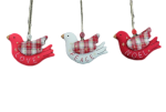 Gisela Graham Set Of 3 Dove Christmas Tree Decorations