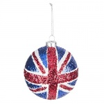 Gisela Graham Union Jack Christmas Tree Bauble