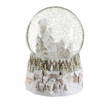 Gisela Graham Village Scene Led Christmas Snowglobe