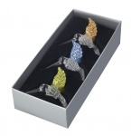 Heaven Sends Set of 3 Glass Bird Christmas Decorations