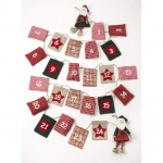 Heaven Sends Fabric Santa Christmas Advent Garland Calendar