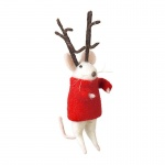 Heaven Sends Mouse With Antlers Christmas  Decoration