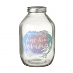 Modern First Home Glass Savings Money Jar Gift Idea