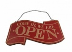 Heaven Sends Retro Open and Closed Hanging Sign