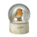 Heaven Sends Christmas Robin Snowglobe Decoration