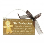 Heaven Sends The Perfect Man Christmas Plaque