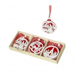 Heaven Sends Red And White Scandi Disc Christmas Decorations