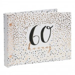 Luxe Ladies 60th Birthday Gift Photo Album With Message Space