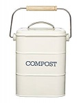 Retro Style Cream Lidded Compost Bucket