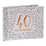 Luxe Ladies 40th Birthday Gift Photo Album With Message Space