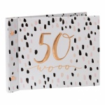 Luxe Ladies 50th Birthday Gift Photo Album With Message Space
