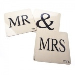 Bluebell Mr & Mrs Set - Choice of Coasters or Placemats