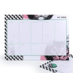 Mustard Gifts Cat Design A4 Weekly Planner Tear Off Pad