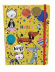 Rachel Ellen Cats & Dogs Lined Notebook