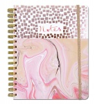 Rachel Ellen Marble Rose Gold Lined Notebook