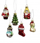 Sass & Belle Set of 6 Retro Glass Christmas Tree Decorations
