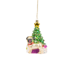 Sass and Belle Glass Novelty Pug Christmas Tree Bauble