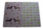 Set of 4 Melamine Pretty Sausage Dog Placemats