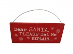 Shoeless Joe Dear Santa Christmas Decorative Plaque