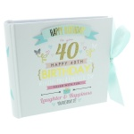 Signography Ladies 40th Birthday Gift Photo Album