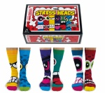 United Oddsocks Stress Heads Novelty Mens Socks