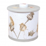 Wrendale Designs Grey Illustrated  Countryside Biscuit Barrel