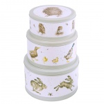 Wrendale Designs Sage Illustrated  Countryside Set of 3 Cake Tins