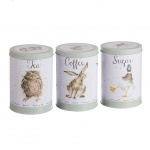 Wrendale Designs Sage Tea, Coffee & Sugar Canisters