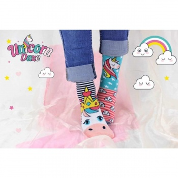 United Oddsocks Childrens Novelty Unicorn Daze Socks - Size 9-12