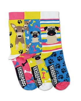 United Oddsocks - Girls Novelty Pug Socks- Size 12-5.5