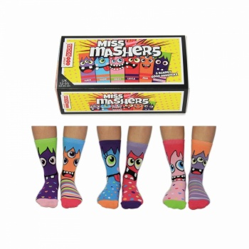 Miss Mashers Novelty Girls Socks from United Oddsocks