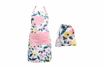 Worlds Best Mum Floral Apron With Bag