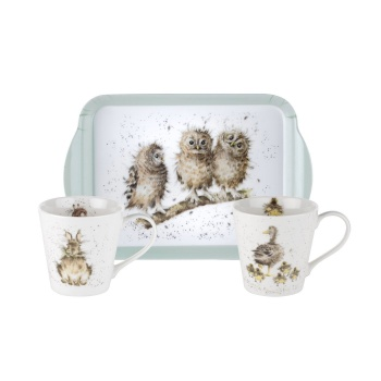 Wrendale Designs Mugs & Tray Set
