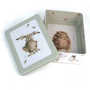 Wrendale Designs Sage Hare Design Rectangular Storage Tin