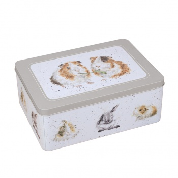 Wrendale Designs Grey Guinea Pigs Rectangular Storage Tin