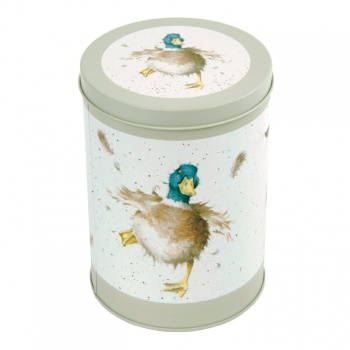 Wrendale Designs Sage Green Illustrated Canister Storage Tin