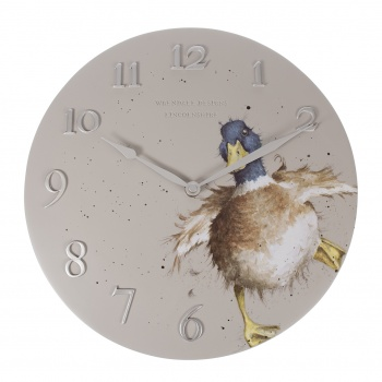 Wrendale Designs Wall Clock Duck Design